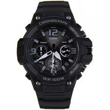 Casio Men's Chronograph Watch, 100 Meter WR, Black Resin, Date, MCW100H-1A3V