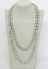 """Genuine 48"""" 13mm baroque gray freshwater pearls necklace j10504"""