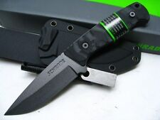 SCHRADE Full Tang Straight Drop Point SURVIVAL Knife + Sheath + FERRO Rod SCHF59