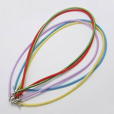 """Silk Necklace Cord Necklace Chains 17-18"""" Adjustable Assorted Colors 5 pieces"""