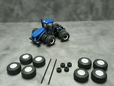 1/64 Farm custom scratch 800/70 R38 tractor tire kit white rims + axels +weights