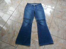 H8000 g-star low hip Flare jeans w30 l32 azul oscuro monocromo bien