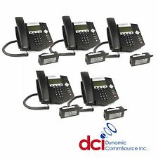 Refurbished 5 Pack of Polycom SoundPoint IP 450 Telephones w/Power *FREE SHIP