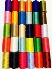 15 Art Silk Rayon Embroidery Machine Thread Strong Spools 15 Different colours