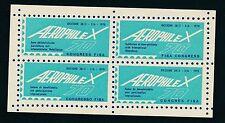 76244)  Luftpost Vignetten-Block Italien Riccione 1970 FISA-Congres