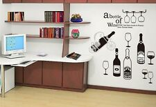 Wine Bottle Home Decor Removable Wall Sticker/Decal/Decoration
