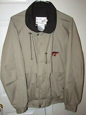 Virginia Tech Hokies Tan Khaki Full Zip Jacket Large Great Quality