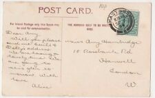 Miss Amy Hambridge, 18 Rosebank Road, Hanwell, London 1904 Postcard, B603