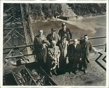 1941 Niagara Parks Commissioners at New Rainbow Bridge NY Press Photo