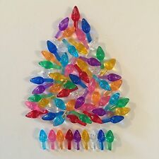 54 SMALL TWIST BULBS 9 COLORS Vintage Ceramic Christmas Tree Lights Replacements