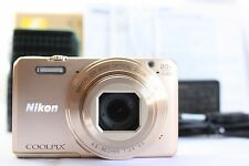 Nikon COOLPIX S7000 16.0MP Digital Camera - Gold *Near Mint* from Japan *129