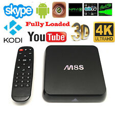 M8S Quad Core Wifi HD 1080P HDMI Android 4.4 TV Box Full Loaded 2G + 8G US EM7