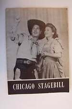 Chicago Stagebill 1943 Oklahoma! Erlanger Theatre The Theatre Guild Advertising