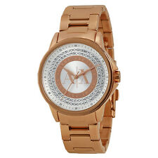 Armani Exchange Julietta Silver and Rose Dial Rose Gold-tone Ladies Watch AX4322