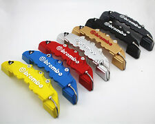 4pcs Universal Disc Brake Caliper Covers Front&Rear 3D Brembo Style 7 Colors M&S