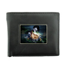 Black Bifold Leather Material Wallet the 3rd Zombie Design-009 Walking Dead