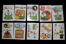 10 Books CUT THE ROPE Temporary Tattoos Appox 20 in total Non Toxic Tattoos