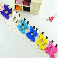 10Pcs Toddler cute Girl Hair Clip Ribbon Bow Baby Kids Satin Bowknot Headband b