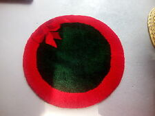 Christmas Decoration Round Round Red and Green Thick Christmas Wreath Rug