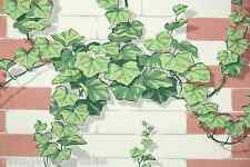 1950s Vintage Kitchen Wallpaper Climbing Ivy on Bricks
