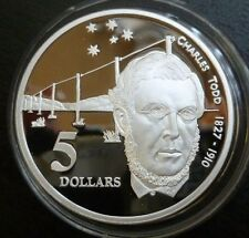 Australia Sterling Silver Proof 5 Dollars 1995 Charles Todd (ASW 1.06oz)