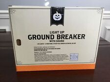 NEW Halloween Scary Light Up Skeleton Skull Ground Breaker Sound Graveyard Prop