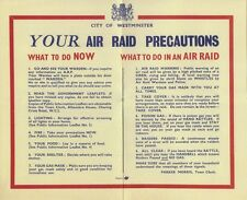 Your Air Raid Precautions Leaflet The Blitz World War II 1939-1945 Home Front