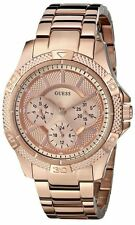 U0235L3 NEW GUESS LADIES ROSEGOLD BAND MULTI FUNCTIONS DIAL WATCH
