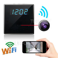 HD 1080P WiFi Real Table Clock Spy Camera Security Loop Recording Motion Detect