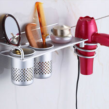 Hair Dryer Rack Storage Organizer Rack Comb Holder Wall Mounted Bathroom Sets