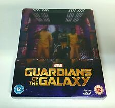 GUARDIANS OF THE GALAXY [2D + 3D] Blu-ray STEELBOOK [ZAVVI] LENTICULAR [UK] OOP