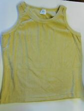 """NOS Vtg '70's Terry Cloth Gym Workout Tank Top Large 38"""" Yellowish Brown? USA!"""