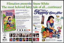 Filmation HAPPILY EVER AFTER__Original 1993 Trade AD movie promo__Snow White