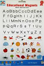 ALPHABET FRIDGE MAGNETS 80pc Learn Play LETTERS toy kids 3+ nursery SPELL MATCH