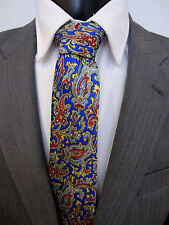 Hawes & Curtis Paisley Blue Jacquard Weave Silk Tie