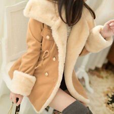 Thicken Ladies Winter Wool Blend Women Cardigan Double-Breasted  Jacket Coat XL#