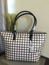 NWT Kate Spade Bridgewater Drive Jules Bi Color Plaid Tote Handbag