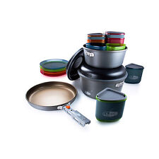 GSI Outdoors Pinnacle Camper Cookware Set Aluminum Outdoor Backpacking Camping