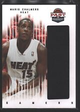 MARIO CHALMERS 2011-12 PAST & PRESENT GAMERS JUMBO PATCH JERSEY SP HEAT $15