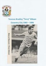 TERRY GIBSON COVENTRY CITY 1983-1986 ORIGINAL HAND SIGNED PICTURE CUTTING