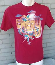 Emery Band Size Small Retro Style Lightning Bolt Red T-Shirt