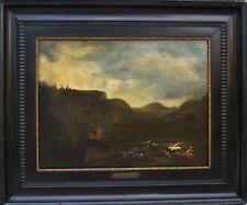 Antique Nickolaes Berckhem Dutch Oil Painting Landscape 17th century