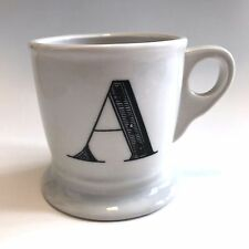 anthropologie monogram coffee mug cup initial letter a ceramic 14 oz