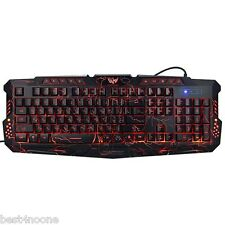 Bilingual M-200 USB Wired 3 Colors Russian English Backlight Gaming Keyboard