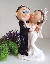 Funny Figurine Wedding Cake Toppers Bride Groom Humorous Cake Toppers  Marriage