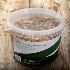3 Litre Resealable Tub Oak BBQ Barbecue Smoking Wood Chips Smoker Chippings