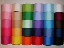 "LOT 30 YARDS GROSGRAIN RIBBON SOLID COLORS 1.5 ""1 1/2"" INCH REF 29"