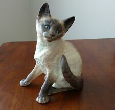 "Classic Cat Munro of Thailand 1995 MC 30090 brown Siamese figurine 7 3/4""  tall"