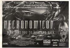 "NEWSPAPER CLIPPING/ADVERT 30/7/94PGN23 7X11"" NECRONOMICON MOVIE"