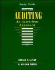 Auditing, Study Guide: An Assertions Approach, Glezen, G. William, Taylor, Donal